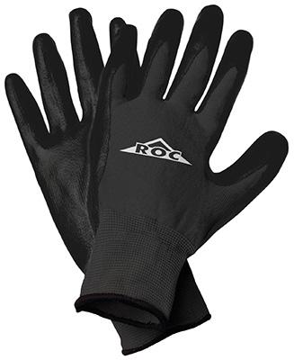 LG BLK Poly Palm Glove