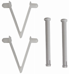 JED POOL TOOLS INC 80-218 Jed, 4 Piece, Replacement Spring Clips & Pins, For Swimming