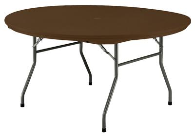 """60"""" BRN RND Rhino Table"""