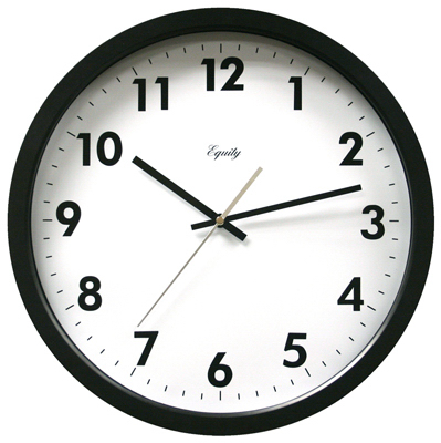 "13.5""BLK CommWall Clock"