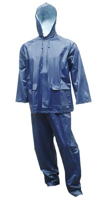 2PC 2XL Navy Rain Suit