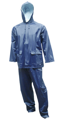 2PC XL Navy Rain Suit