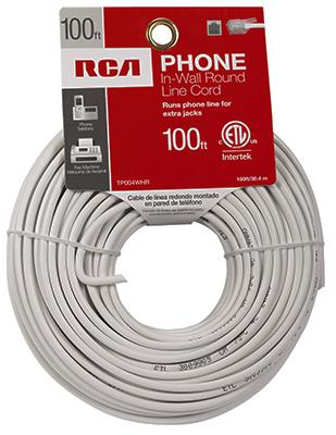 100 WHT RND Line Cord