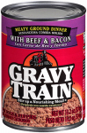 JM SMUCKER RETAIL SALES 00079100524631 Gravy Train, 13.2 OZ, Meaty Ground Dinner With Beef &