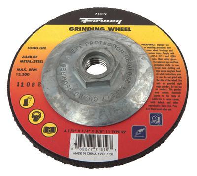 4.5x1/4 27 Grind Wheel