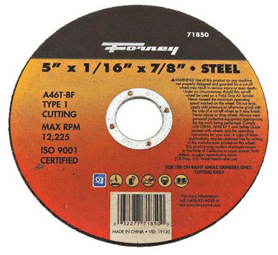 5x1/16x7/8 T1 Cut Wheel