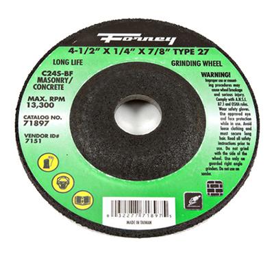 4.5x1/4x7/8 Grind Wheel