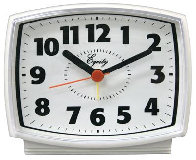 WHT ElecAlarm QTZ Clock