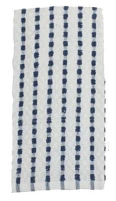 16x26 BLK Striped Towel