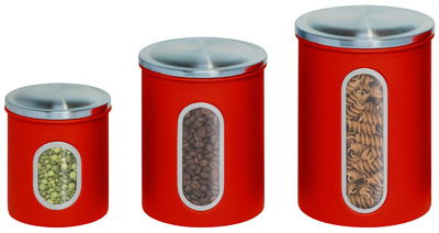 3PK RED Stor Canisters