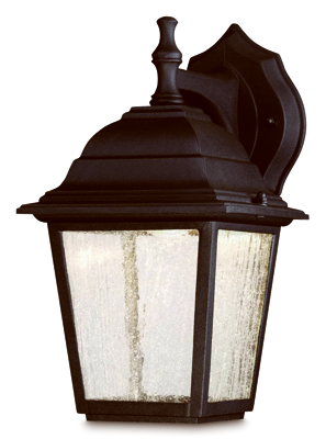 9W BLK LED Wall Lantern - Woods Hardware