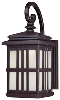 9W BRZ LED Wall Lantern