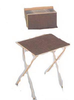 Honey Oak TV Tray Table