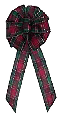 Scotch Plaid Wired Bow