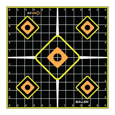 "5PK 12"" BLK Grid Target"