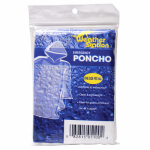 "CHABY INTERNATIONAL INC 5100 38""L x 48"", Clear, Plastic Emergency Poncho With Hood, Ideal"
