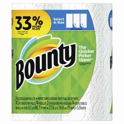 Bounty2PK WHT Big Towel - Woods Hardware