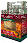 BLACK DIAMOND CHARWOOD BDS03 Black Diamond, 3 Pack, Hardwood Fire Starter, Made From Woven