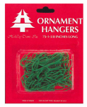 HOLIDAY TRIM 3928000 75 Count, Green, Regular Ornament Hook.<br>Made in: US
