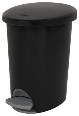2.6GAL 9.8LBLK Step Can - Woods Hardware