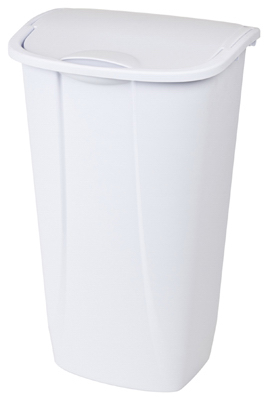 11GAL 42L WHT Swing Can - Woods Hardware