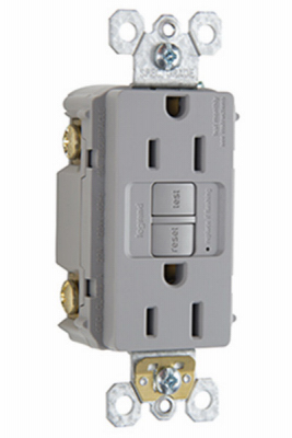15A GRY Self Test GFCI - Woods Hardware