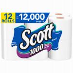 12PK Scott Bath Tissue