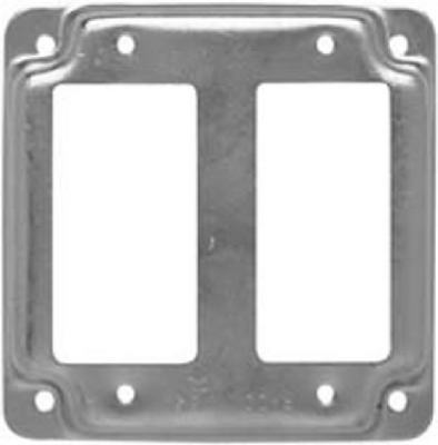 """4"""" SQ 2 GFI Recep Cover"" - Woods Hardware"