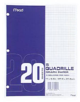 20CT WHT Graph Paper