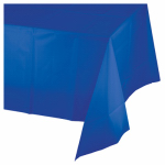 "CREATIVE CONVERTING 723147 54"" x 108"", Cobalt Blue, Plastic Table Cover, Fits One"