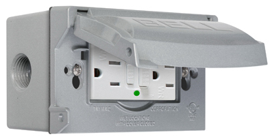 15A GRY GFCI Outlet Kit - Woods Hardware