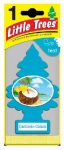 CAR FRESHNER CORP U1P-10324 Caribbean Colada Air Freshener, Turquoise Blue Pine Tree Shape, Carded.<br>Made