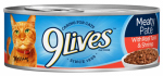 JM SMUCKER RETAIL SALES 10079100004482 9 Lives, 5.5 OZ, Meaty Pate With Tuna & Shrimp