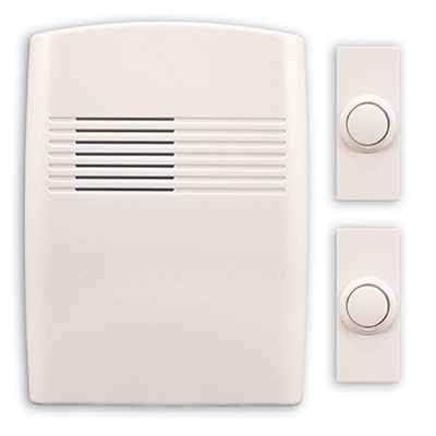 OFF WHT Doorbell Kit - Woods Hardware