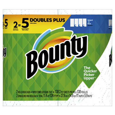 Bounty2PK WHT SAS Towel - Woods Hardware