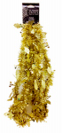 10' GLD Tinsel Garland