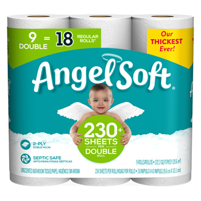 9PK Angel BathTissue - Woods Hardware