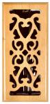 Hardwood Floor Register, Oak Scroll , 4 x 12-In.