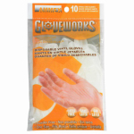 AMMEX CORPORATION GWV10PK 10 Count, Vinyl Disposable Gloves, 3 Mil Thick, 1 Size