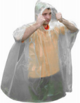 ULTIMATE SURVIVAL TECHNOLOGIES 20-310-CP Clear, Emergency Rain Poncho, Ultra Lightweight, Keeps You Dry During