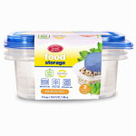 DELTA BRANDS & PRODUCTS LLC 11342-12 Home Select, 3 Count, 2.3 Cup, Medium, Rectangle, Food Storage