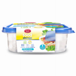 DELTA BRANDS & PRODUCTS LLC 11343-12 Home Select, 2 Count, 2.7 Cup, Medium, Square, Food Storage