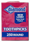 ROYAL OAK ENTERPRISES LLC 535-376-822 250 Count, Round Toothpick.<br><br><strong>Prop65Warning:</strong><br>CANCER AND REPRODUCTIVE HARM WWW.P65WARNINGS.CA.GOV<br>Made in: CN