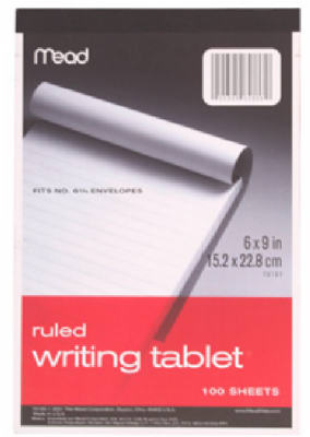 100CT6x9 Writing Tablet