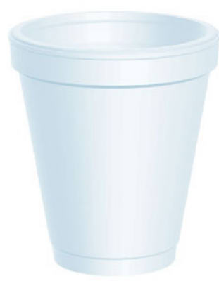 25CT 6OZ WHT Foam Cup