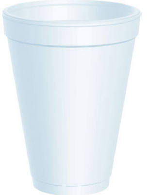 25CT 12OZ Foam Cup
