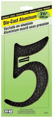 """3-1/2"""" BLK ALU Number 5"""