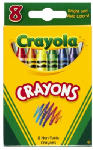 CRAYOLA LLC 52-3008 Crayola, 8 Count, Crayons In Tuck Box, 8 Key Primary