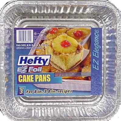 3PK SQ Foil Cake Pan