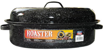 "15"" BLK Oval Roaster"